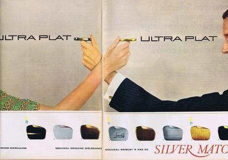 1966 Silver Match briquet ultra plat