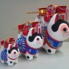 Famille de chiens en hariko