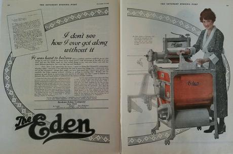1919 Brokaw Eden company wringer washer washing machine