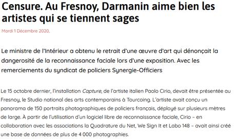 Little Darmanin is watching YOU (bientôt un art officiel à la gloire de Macron ?)
