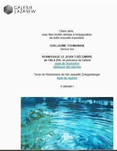 Galerie LAZAREW   exposition Guillaume Toumanian « Genius loci » à partir du 3 Décembre 2020
