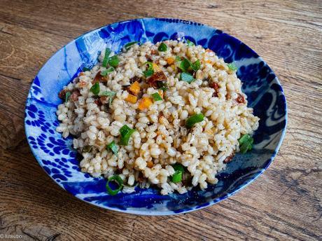 Variante – Risotto de petit épeautre aux petits légumes