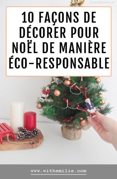 10 façons de décorer de manière éco-responsable pour Noël Pinterest