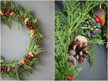 DIY : la couronne de Noël