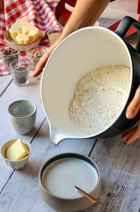 idée recette apéritif sain gourmand pain maison fromage gratiné graines