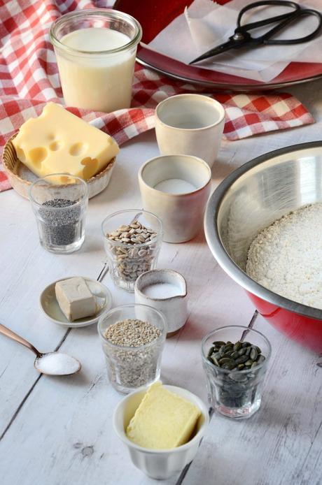 ingrédient recette petit pain graines courge tournesol lin sésame