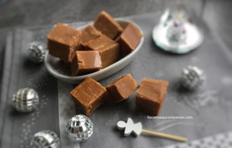 Fudges au caramel beurre salé au companion thermomix ou sans robot
