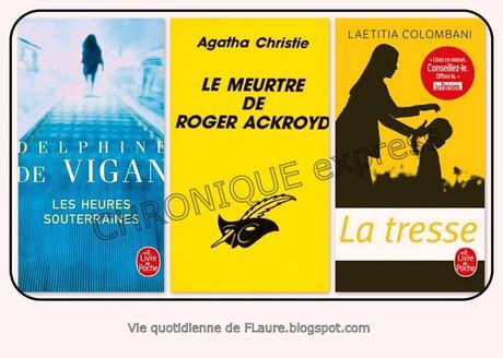 Chroniques express (D. de VIGAN /A.CHRISTIE /L. COLOMBANI)
