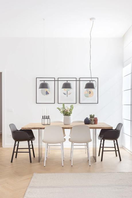 salle à manger danoise design symétrie blog déco clem around the corner