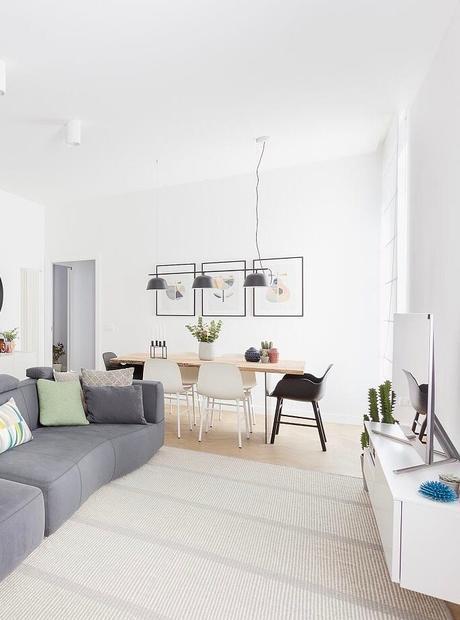 salon blanc scandinave canapé modulable gris anthracite sans pied Frascati