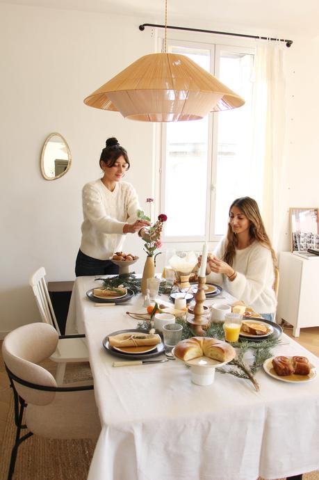 table petit déjeuner de noël alinea