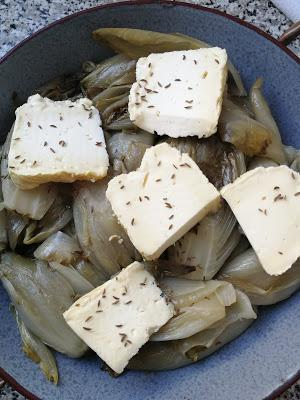 Gratin d'endives au Maroilles & graines de carvi