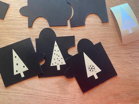 cricut diy coaster faux cuir leather Noël table dorée noire