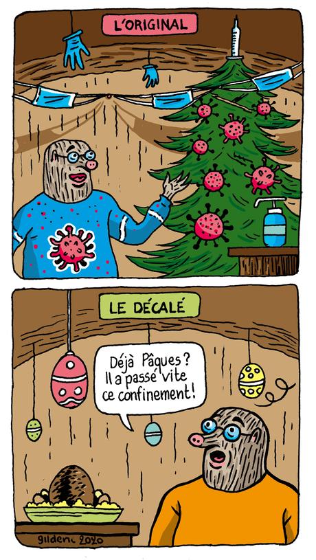 Quel confiné de Noël es-tu ? dessin humour Taupe Chef page 2