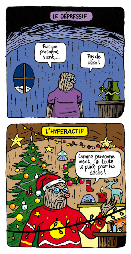 Quel confiné de Noël es-tu ? dessin humour Taupe Chef page 1