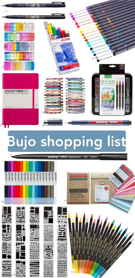 bujo bullet journal calligraphie matériel test - blog déco - clem around the corner