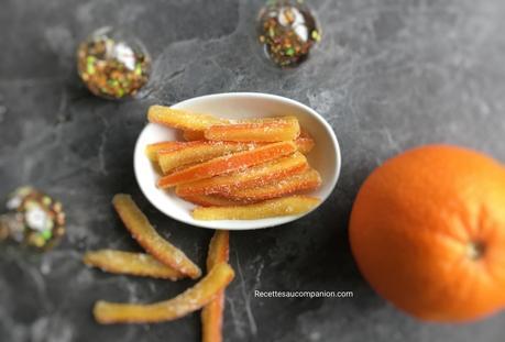 Orangettes au sucre au companion thermomix ou sans robot