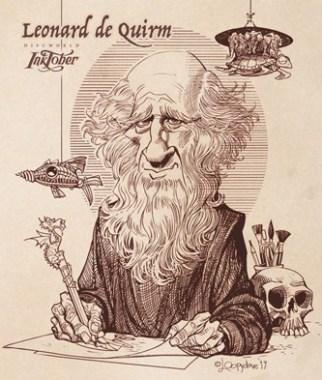 Fan art de Leonard de Quirm dans le roman Va-t-en-guerre de Terry Pratchett