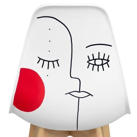 chaise face line art