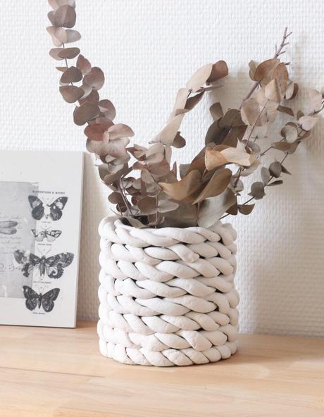vase boite conserve upcycling création déco diy effet céramique porcelaine