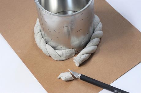idée déco pâte autodurcissante sèche air libre blanche