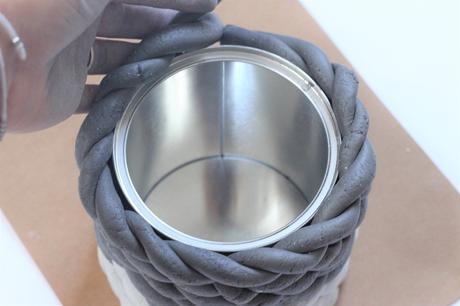 objet déco vase boîte conserve à fabriquer soi-même