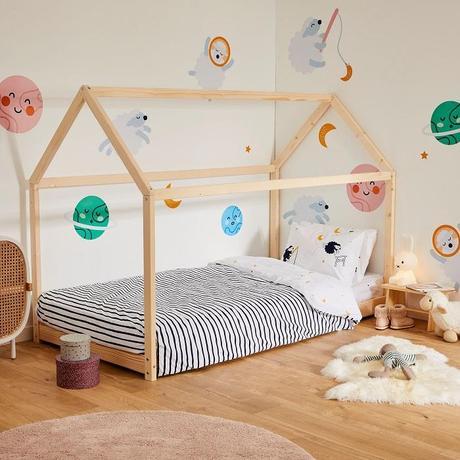 chambre deux enfants mixte lit cabane -blog déco clem around the corner