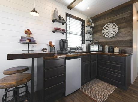 aménager cuisine style texan déco maison conteneur ancien