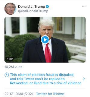 #TrumpBanned : l'incohérence des politiques sur le sujet de la modération sur les réseaux sociaux