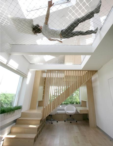 filet d intérieur blanc bureau claustraescalier bois - blog déco - clematc