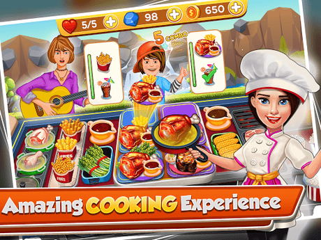 Télécharger Cooking Crush - Madness Crazy Chef Cooking Games APK MOD (Astuce) 1