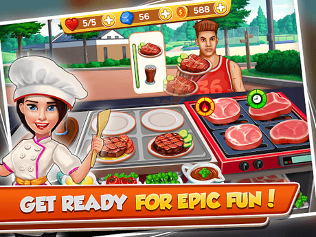 Télécharger Cooking Crush - Madness Crazy Chef Cooking Games APK MOD (Astuce) 3