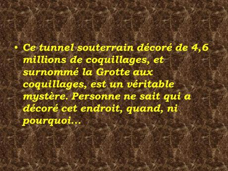 Divers - La Grotte aux Coquillages