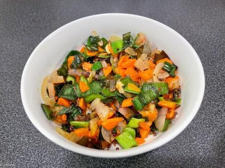Lutsubo express – Tofu lacto-fermenté au tamari sauté aux légumes