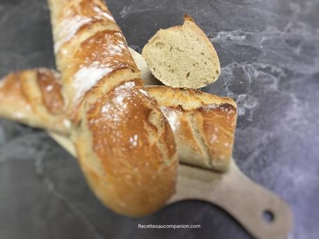 Baguette tradition facile au companion thermomix ou sans robot