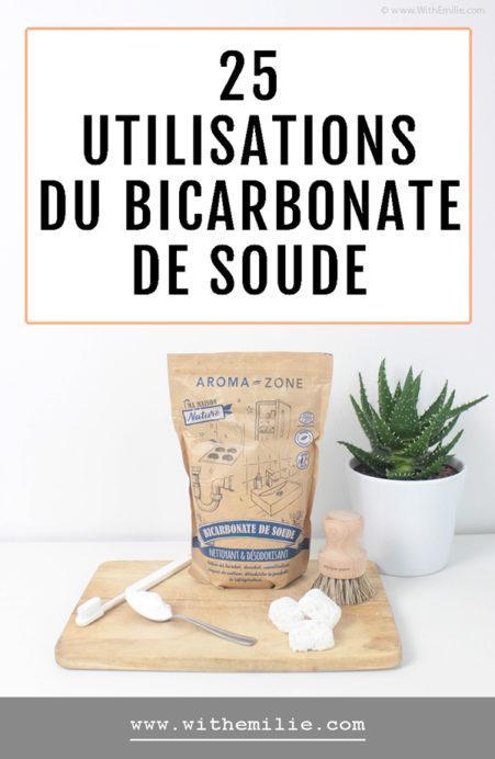 25 utilisations du bicarbonate de soude - With Emilie Pinterest