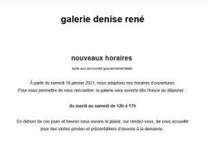 Galerie Denise René  nouveaux horaires depuis le 16 Janvier 2021 Exposition -Carrément SOTO