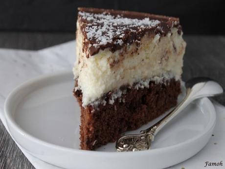Gâteau chocolat coco sans beurre