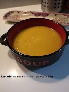 Soupe  de potiron, fenouil, poireaux