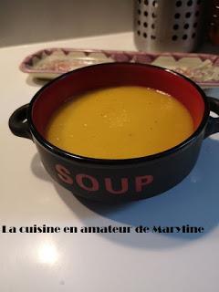 Soupe de potiron, carottes et navets