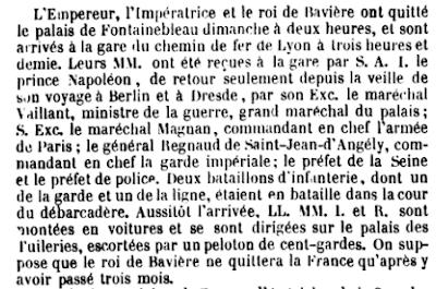 Le voyage français du roi Maximilien II de Bavière en mai 1857 — Le reportage de l'Illustration.