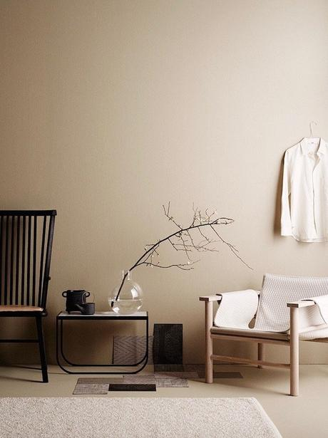 salon camaieu de beige marron déco slow living japandi decoration minimaliste masculine