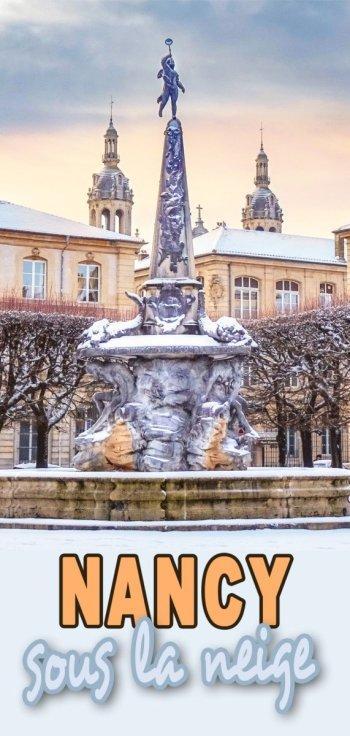 Nancy sous la neige © French Moments
