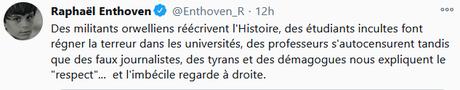 Raphael Enthoven, propagandiste d'extrême-droite