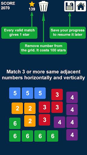 Télécharger Gratuit glisser et fusionner des nombres: jeu de nombres  APK MOD (Astuce) 2