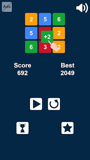 Télécharger Gratuit glisser et fusionner des nombres: jeu de nombres  APK MOD (Astuce) 5