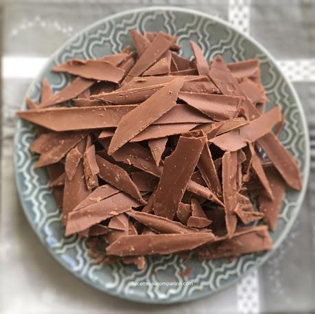 Comment réussir ses copeaux de chocolat