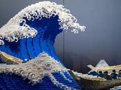 artiste recréé Grande vague d'Hokusai LEGO