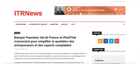 ITRNews parle d'iPaidThat