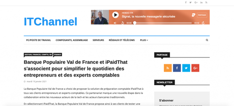 ITChannel parle d'iPaidThat